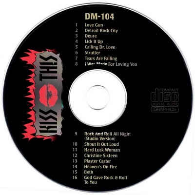 Doctor Music Karaoke - DM104 - Label - Kiss This