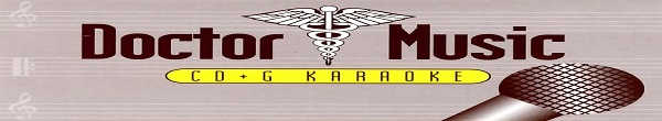 Doctor Music Karaoke - banner disc identity - song books -