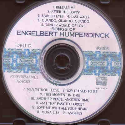 Druid Performance Tracks - Engelbert Humperdinck - DPT2008 - Label