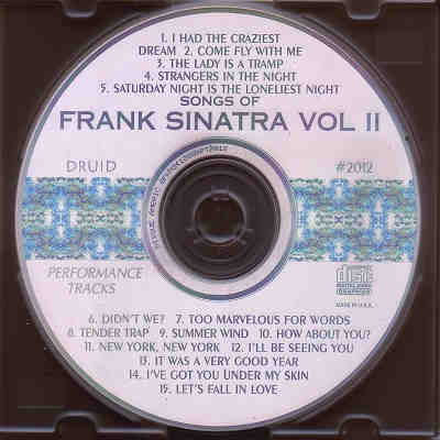 Druid Performance Tracks - Frank Sinatra Vol II - DPT2012 - Label