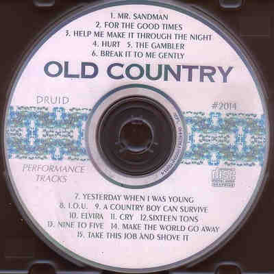 Druid Performance Tracks - Old Country - DPT2014 - Label