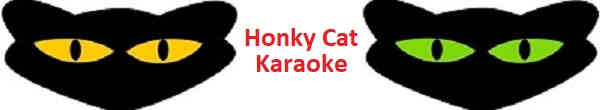 The Karaoke Shack lists the discs of the Honky Cat Karaoke series for KJ's everywhere. Join in with the Karaoke Forum header logo and banner