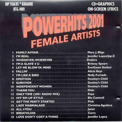 Power Hits Karaoke PWH1001 AKA AMHTG1001 - Back