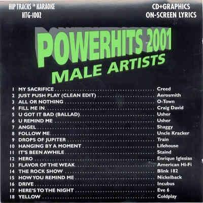 Power Hits Karaoke PWH1002 - Back