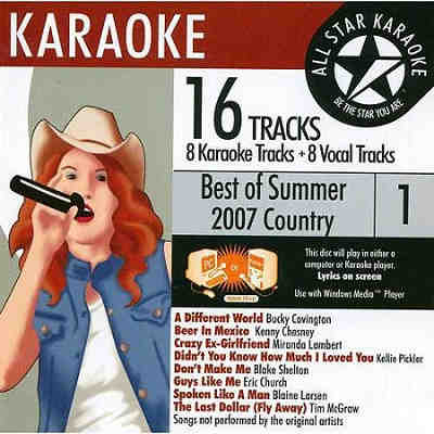All Star Karaoke ASK - Best of 2007 country