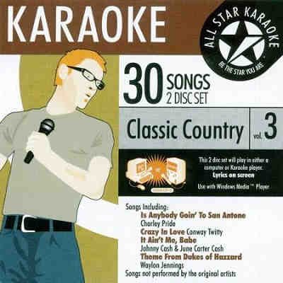 All Star Karaoke ASK - classic country vol 3