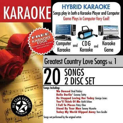 All Star Karaoke ASK - greatest country love songs