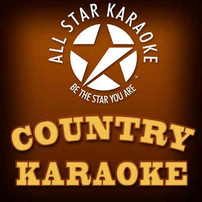 All Star Karaoke Country Logo and banner brown