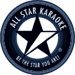 All Star Karaoke - logo in blue