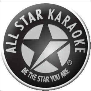 All star karaoke logo - black and white label