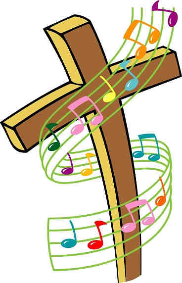 Christian Karaoke music - cross of jesus and musical notes