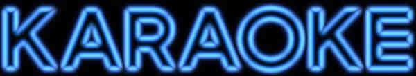 EZ KEY Karaoke - neon banner - blue light
