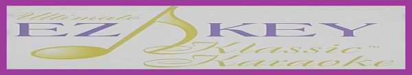EZ KEY Karaoke logo and banner - purble border