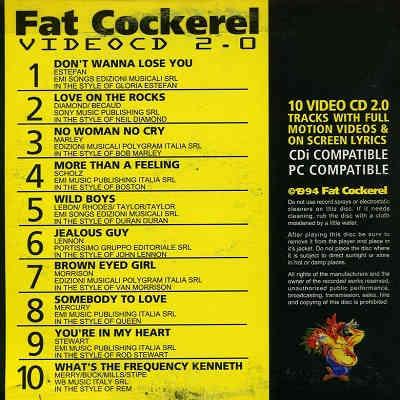 Fat Cockerel Karaoke Video CD - FCVCD03 Back