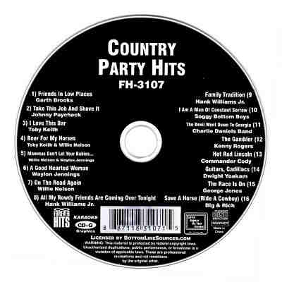 Forever Hits Karaoke FH3107 - Label Country Party Hits CDG