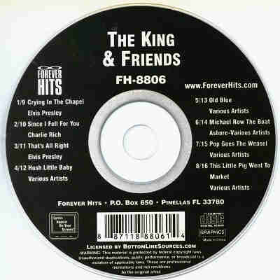 Forever Hits Karaoke FH8806 - Label - The King And Friends CDG
