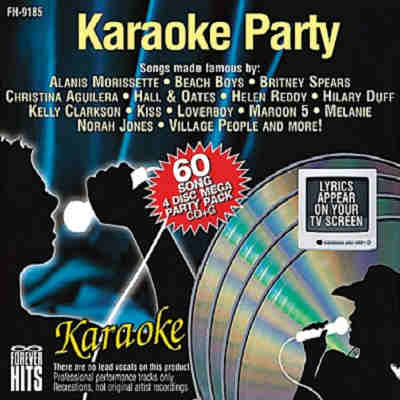 Forever Hits Karaoke - rate these discs here - FH9185 front cover