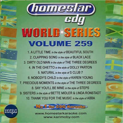 HomeStar Karaoke World Series Vol 259