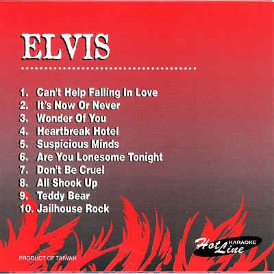 Hot Line Karaoke - HL03 - Elvis disc