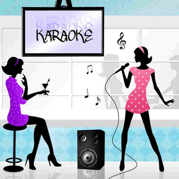 Hot Line Karaoke - two females singing