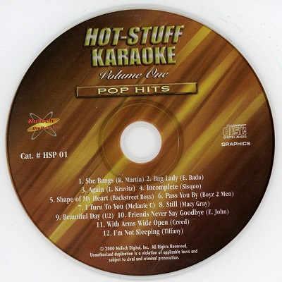 Hot Stuff Karaoke - HSP01 Label