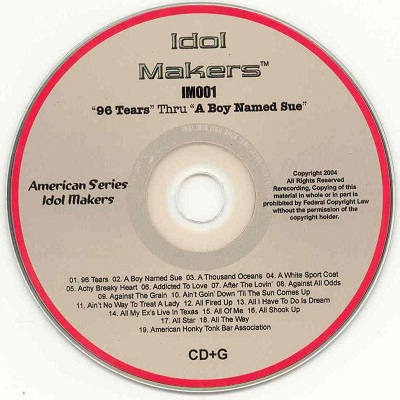 Idol Makers Karaoke - IM001 disc