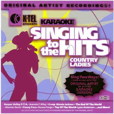 K-Tel Karaoke KT6025-2 - Front song books and lists