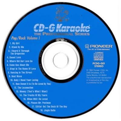 Pioneer Karaoke - PI001 - Label - karaoke shack and forum