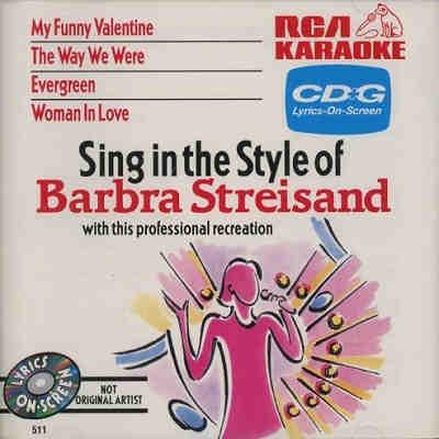 RCA Karaoke - Barbra Streisand - RCA511 Front