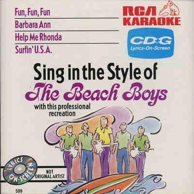 RCA Karaoke - Beach Boys - RCA509 Front