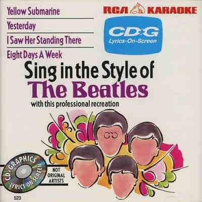RCA Karaoke - Beatles - RCA523 Front