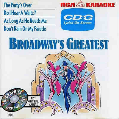 RCA Karaoke - Broadway Greatest - RCA528 - Front CDG