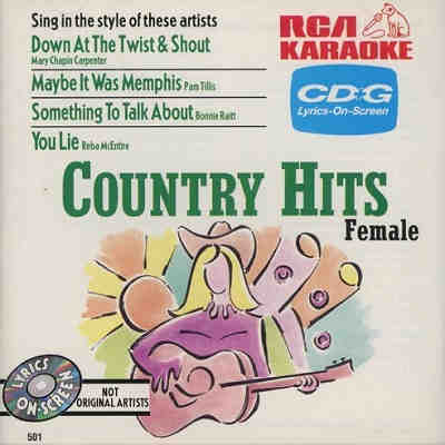 RCA Karaoke - Country Hits - RCA501 CDG - Front