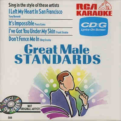 RCA Karaoke - Great Male Standards - RCA508 - Front CDG