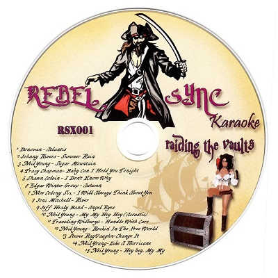 Rebel Sync Karaoke RSX001 - Label CD+G