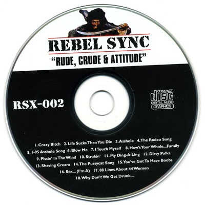 Rebel Sync Karaoke RSX002 - Label - DJ & KJ song books