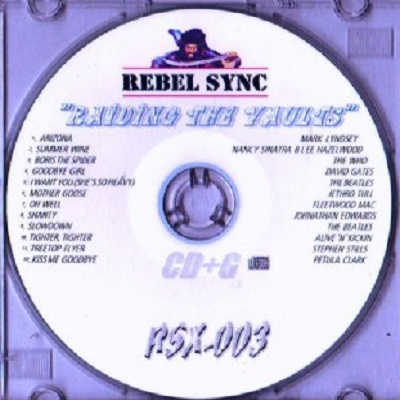 Rebel Sync Karaoke RSX003 - Label CDG song lists
