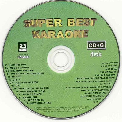 Super Best Karaoke - SB023 CDG Label