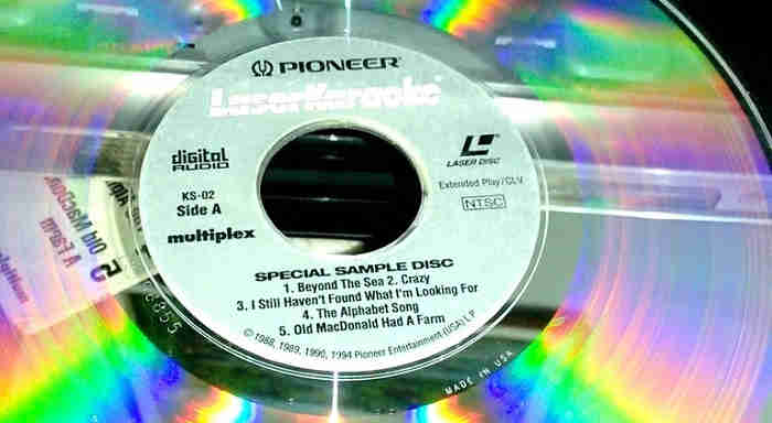 Pioneer karaoke laser disc - sampler disc
