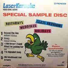 Pioneer Karaoke disc cover