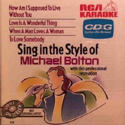 RCA Karaoke - Michael Bolton - RCA510 Front
