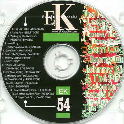 Easy Karaoke EK054 CD+G Label