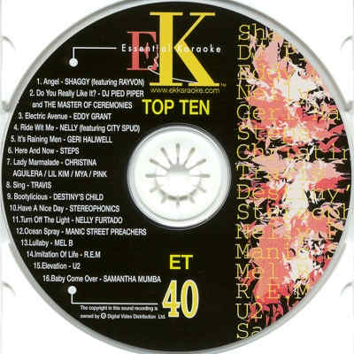 Easy Karaoke ET040 CDG Label