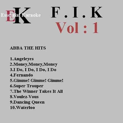 Easy Karaoke FIK001 - Front