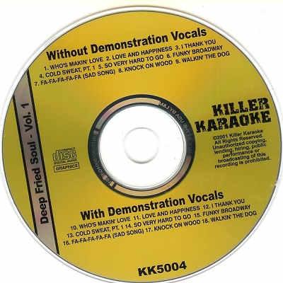 Killer Karaoke Disc - KK5004 - Label CD+G