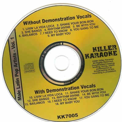 Killer Karaoke Disc - KK7005 CDG