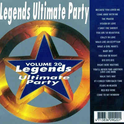 Legends Karaoke Disc UKP20 - Front - Ultimate Party song lists