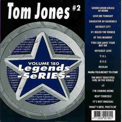 Legends Karaoke LG180 - Front - Tom Jones CDG