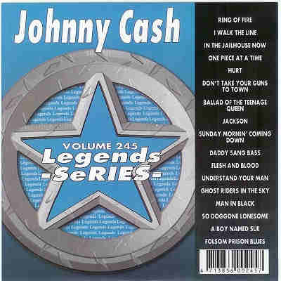 Legends Karaoke LG245 - Front - Johnny Cash CDG