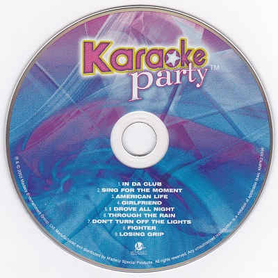 Madacy Karaoke Party MKP2-5996 - Label - Shack song lists